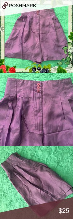 "VINTAGE / Lavender Silk Shorts / Sz Medium / NWOT VINTAGE - Lavender 100% Silk Shorts - Size Medium - by marguerite Li - NEW without tag - Waist has elastic back stretches 27"" to 29"" - Inseam 7"" - Zipper & pleats in the front .  Please feel free to make an offer - Enjoy BIG discounts on bundles & save $$$ on shipping! I do not comment to my buyers after their purchases for privacy reasons - If you would like to know that I received your order ask on the listing & I will respond.  I ship fast…"