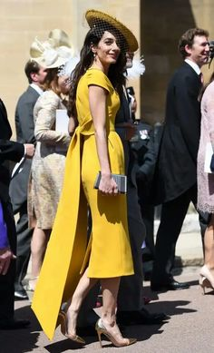 17539dbb314 Amal. Clooney at Harry and Meghan s Royal wedding Royal Wedding Outfits