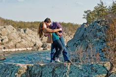 outdoor virginia engagement great falls park Great Falls Park Engagement: Danielle + Sergio