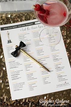 Oscars Ballot Free Printable