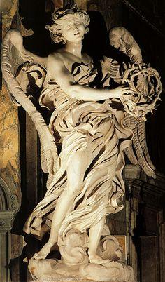 Bernini.Angel w the crown of thorns.(Orig.Sant'Andrea delleFratte