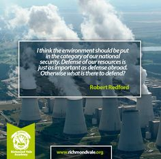I think the environment should be put in the category of our national security #climate #change #environment #resources