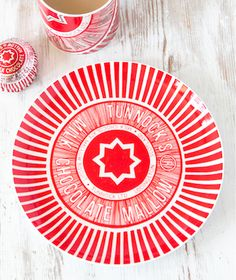 Tunnocks Teacake and Caramel Wafer plates from Hunkydory Home - Retro to Go Small Plates, Decorative Plates, Tunnocks Tea Cakes, Handmade Lampshades, China Plates, Beautiful Interiors, Creative Business, Personalized Gifts, Red And White