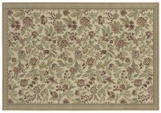 AreaRug English Floral - 3VA76 - Ivory - Flooring by Shaw