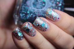 SPELL POLISH ~Jump Up Jump Up and Get Down~ GLITTERBOMB turquoise blue nail polish!