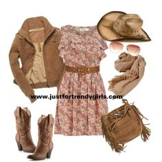 Cowgirl fashion style from http://www.justfortrendygirls.com/2011/10/22/cowboy-fashion-style/