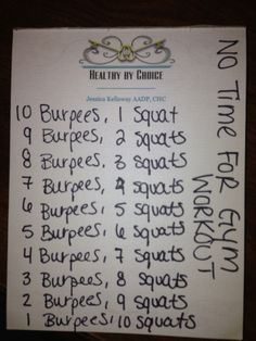 Healthy by Choice's Crossfit! No Time For The Gym? NO EXCUSE!- Workout!