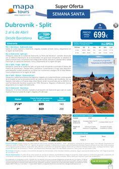 Dubrovnik-Split Semana Santa desde Barcelona**Precio final desde 699** ultimo minuto - http://zocotours.com/dubrovnik-split-semana-santa-desde-barcelonaprecio-final-desde-699-ultimo-minuto/