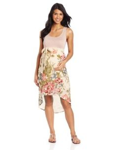 Lilac Maternity Women's Avery Dress, Rose Floral Combo, Large Lilac maternity. $108.00