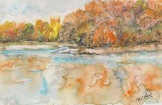 """""""riflessi"""" watercolor by M.Cristina De Amicis"""