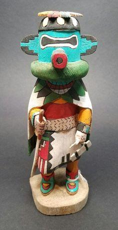"Rare Authentic HOPI Kachina Doll ""Zuni Sun God"" (Pautiwa) Deloria Adams 8-3/4""  | Collectibles, Cultures & Ethnicities, Native American: US | eBay!"