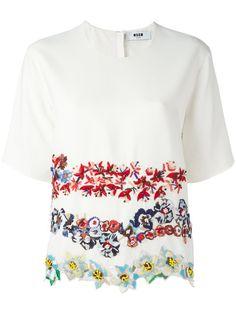 b18619877390e MSGM embroidered flower T-shirt.  msgm  cloth  t-shirt Flower