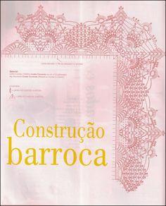 BARRADO DE CROCHE COM CANTOS CONSTRUÇÃO BARROCA  ADMIRE A INFINIDADE DE COMBINAÇÕES DE PONTOS  ESCOLHA O TECIDO E A SUA COR PREFERIDA  cliq...