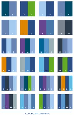 color cobinations | Blue tone color schemes, color combinations, color palettes for print ...