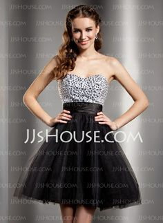 Homecoming Dresses - $123.99 - Empire Sweetheart Short/Mini Tulle Homecoming Dress With Beading (022020891) http://jjshouse.com/Empire-Sweetheart-Short-Mini-Tulle-Homecoming-Dress-With-Beading-022020891-g20891
