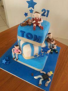 Tom's 21st cake