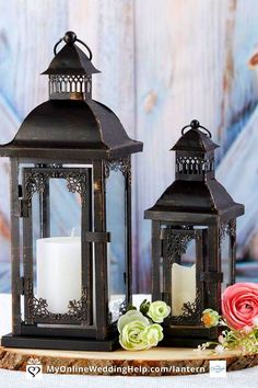 Lantern centerpieces for your wedding! These are a nice addition to any wedding, DIY or otherwise. You can also use for other lantern decor, like aisle decorations. These country style, antique lanterns are ideal for a barn wedding or any rustic theme event. Get more information or buy them through the products section on on MyOnlineWeddingHelp.com Antique Lanterns, Small Lanterns, Rustic Lanterns, How To Make Lanterns, Metal Lanterns, Lanterns Decor, Candle Lanterns, Centerpiece Table, Lantern Centerpieces