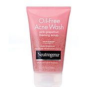 Neutrogena's pink grapefruit oil-free acne wash is like getting a grapefruit squashed in your face every time you use it - this is a VERY good thing. I love this stuff and it works!