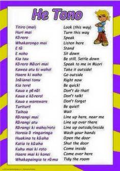 English and Maori language poster