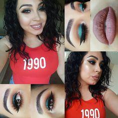 Details for this look.  @urbandecaycosmetics vice pallete @makeupgeekcosmetics @makeupgeektv peache smoothe creme brulé and shimma shimma. @ardell_lashes @anastasiabeverlyhills @norvina liquid lips in Ashton and stripped mixed. Also used their glow kit  #mua #makeupartist #makeupaddict #makeupjunkie #teammorphe #eyes #lips #skin #eyebrows #hotmakeup #wingedeyeliner #smokeyeye #glamour #talkthatmakeup #theglamourhouse #hudabeauty #inssta_makeup #vegas_nay #featuring_mua…