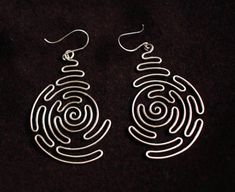 Spiral Labyrinth Sterling Silver Earrings