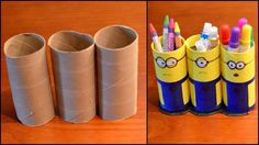Discover recipes, home ideas, style inspiration and other ideas to try. Toilet Roll Craft, Toilet Paper Roll Crafts, Paper Crafts For Kids, Diy Paper, Paper Crafting, Diy For Kids, Kids Toilet, Tissue Roll Crafts, Tissue Paper Roll