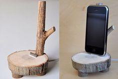 25. wood DIY Phone Holder