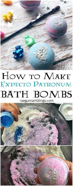 How to make expecto patronum bath bombs fun harry potter craft