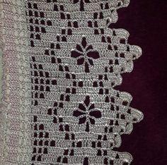 Crochet doilies diagram haken 57 ideas for 2019 Crochet Boarders, Crochet Edging Patterns, Crochet Lace Edging, Crochet Squares, Crochet Trim, Crochet Doilies, Easy Crochet, Crochet Stitches, Knitting Patterns
