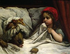 Gustave Doré (French, 1832-1883), Little Red Riding Hood by sofi01, via Flickr