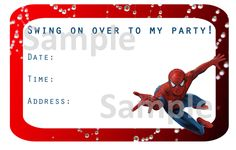 Free printable spiderman party invitations on thepartywebsite free spiderman invitation bookmarktalkfo Gallery