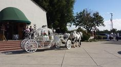 Childs funeral with cinderella carriage used as hearse