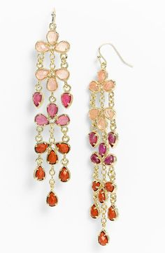 Kendra Scott 'Melina' Long Ombré Statement Earrings available at #Nordstrom