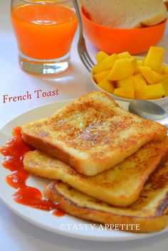 Quick & delicious FRENCH TOAST  http://tastyappetite.blogspot.in/2012/08/how-to-make-french-toast-quick-recipe.html