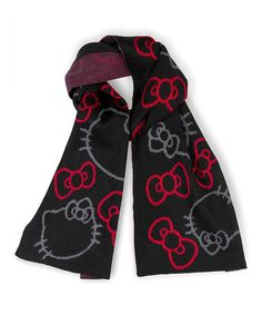 Another great find on #zulily! Black & Red Hello Kitty Scarf #zulilyfinds