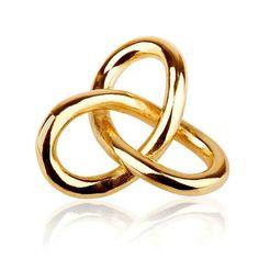 Gordian Knot Pendant Gold Big