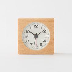 ブナ材時計(アラーム機能付) 型番:MJ‐BC1 | 無印良品ネットストア