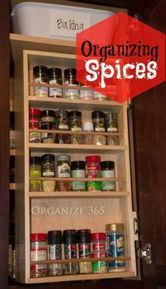 40 Weeks 1 Whole House: Week Organizing Spices - Organize 365 Spice Storage, Spice Organization, Household Organization, Recipe Organization, Organizing Your Home, Organizing Ideas, Kitchen Redo, Homemaking, Cleaning Hacks