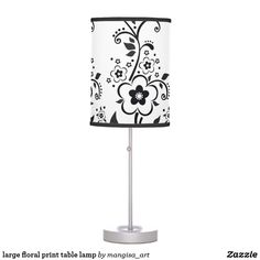large floral print table lamp