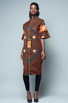 African inspired fashion -- Mwaaa..I like the simplicity of this piece, yet, the classy look too...