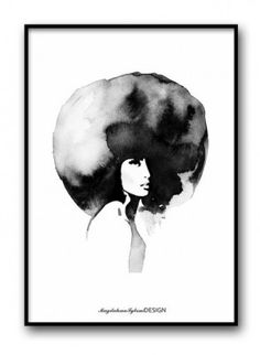 Poster - Woman with big haircut