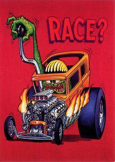 56 Chevy Nomad By J Mil Rodart Rat Fink Car Drawing 1