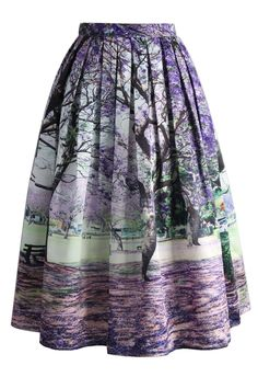 Under the Jacaranda Printed Midi Skirt - New Arrivals - Retro, Indie and Unique Fashion