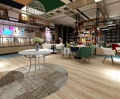 Tihouse Cafe by Kraf&Co. Design Studio, via Behance