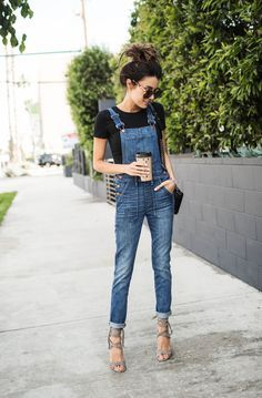 The perfect tops for pairing w/ your overalls. This is how you wear this trend and stay looking chic