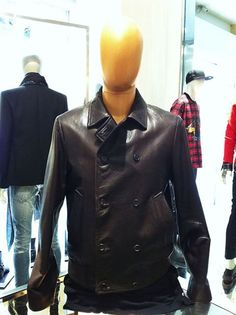 Prada #leather #jacket #man #FallWinter