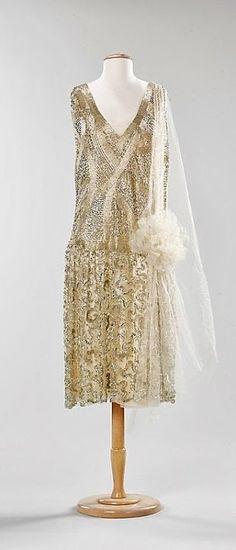 ~French Dress - c. 1925 - Silk, metal - The Metropolitan Museum of Art~