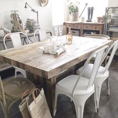 Emmerson 62 Dining Table Reclaimed Pine Reclaimed wood dining