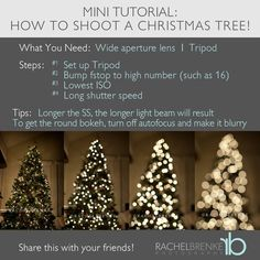 How to Shoot Christmas Tree Lights | http://coolphotoshoots.blogspot.com