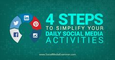 Do you engage with your audience on multiple social platforms? This article shares a four step social media to do list that prioritizes engagement.